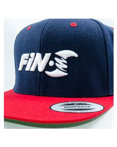 Fin-S Snapback Hat(Navy/Red)