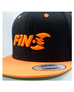 Fin-S Snapback Hat(Black/Orange)